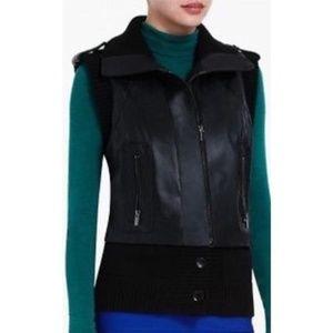 BCBGMaxazria Black Viggo Leather Vest